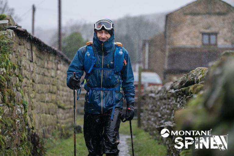 spine race rain